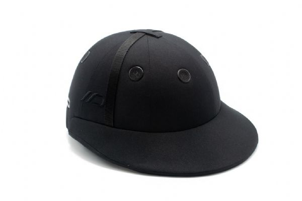 Instinct Polo Helmet Black with Black Strap and Black Grommets
